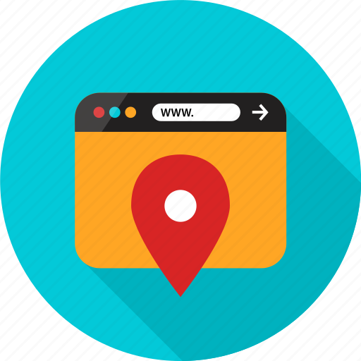 browser, direction, gps, location, online, pin, web icon