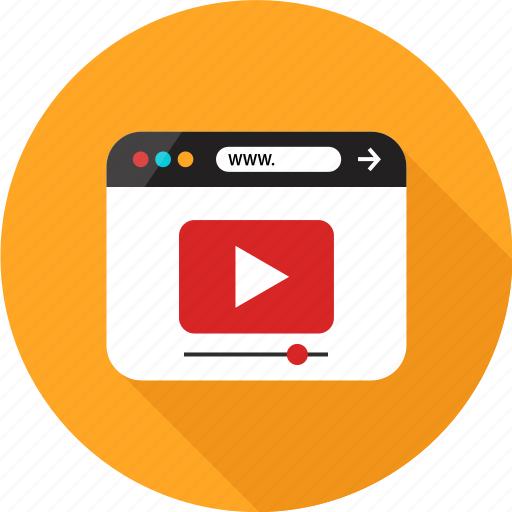 browser, online, play, tube, web, youtube icon