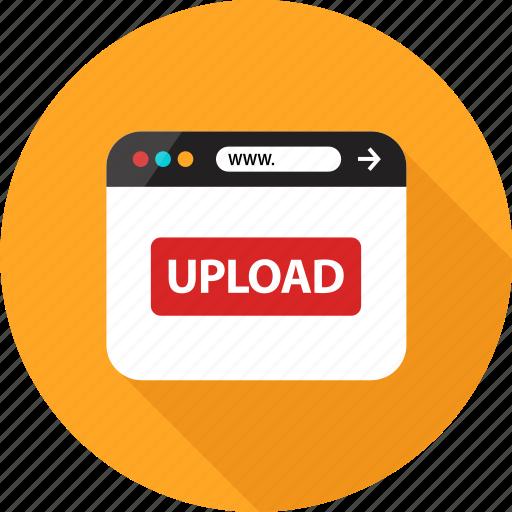 browser, online, send, sign, up, upload, web icon