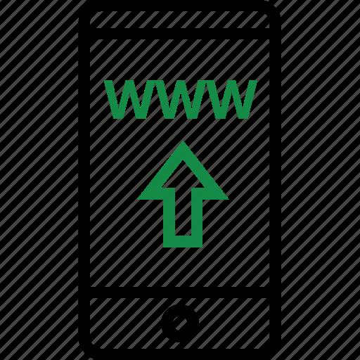 arrow, up, website, www icon