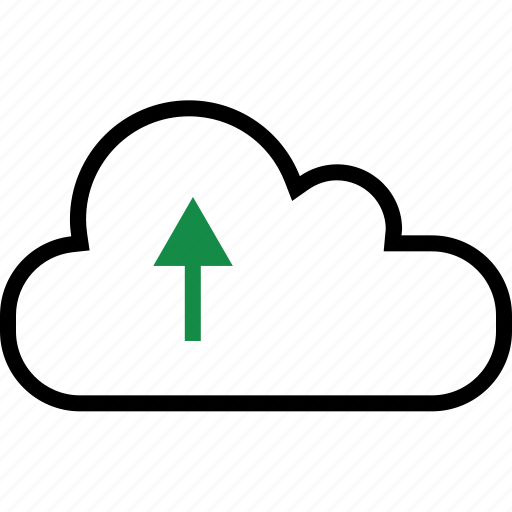 analyze, arrow, cloud, data icon