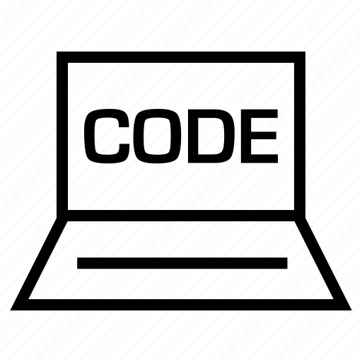 code, development, laptop, online, script, web icon