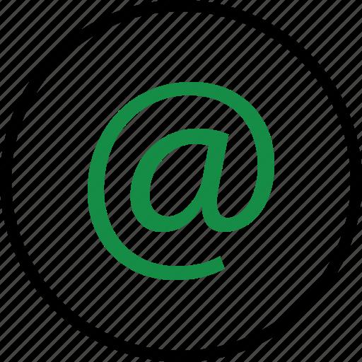 address, communication, email icon
