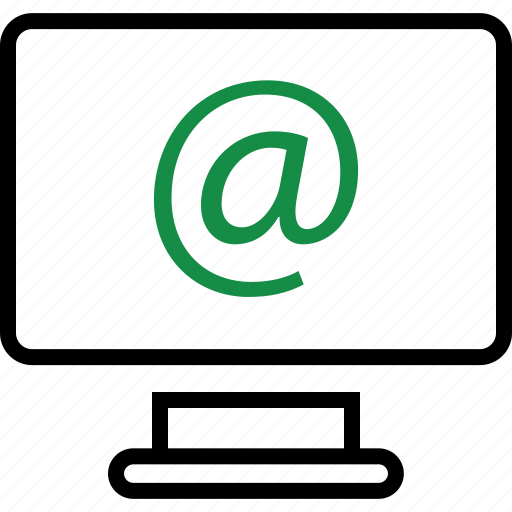 address, computer, email icon