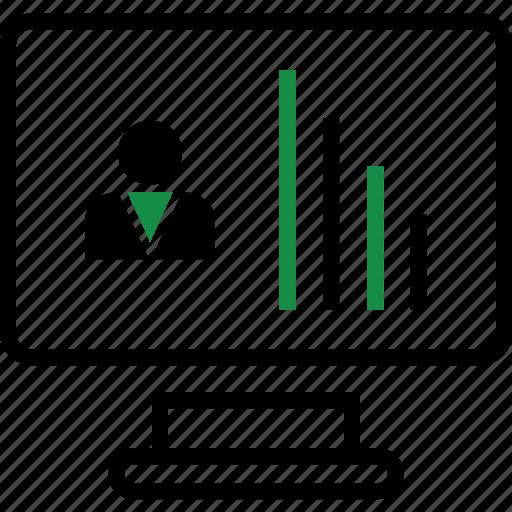 bars, monitor, report icon