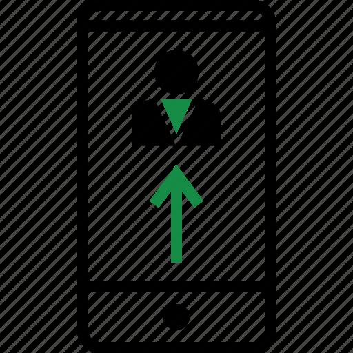 mobile, person, staff icon