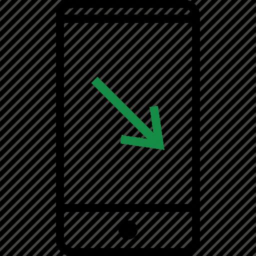 arrow, mobile, phone icon
