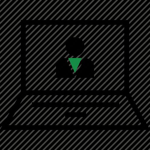 boss, person, profile icon