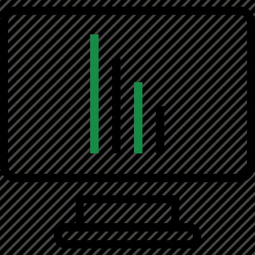 computer, report, screen icon