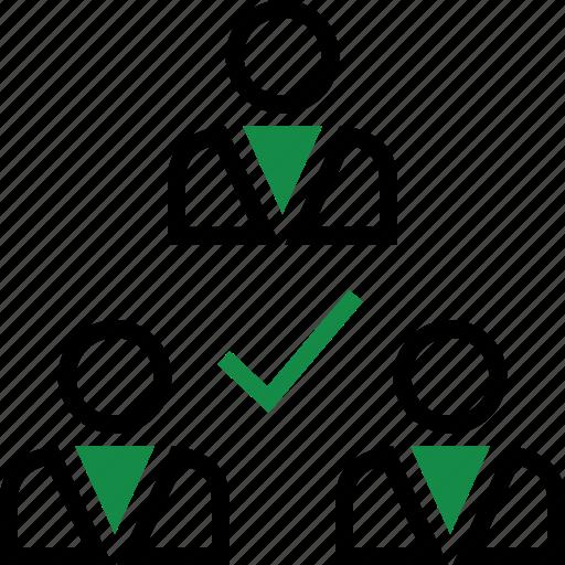 checkmark, group, team icon