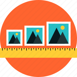 adjustable, content, frame, image, photos, picture, responsive, size icon