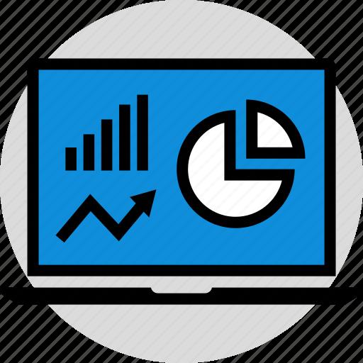 arrow, infographic, seo icon