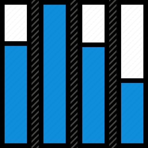 bars, data, graph, information icon