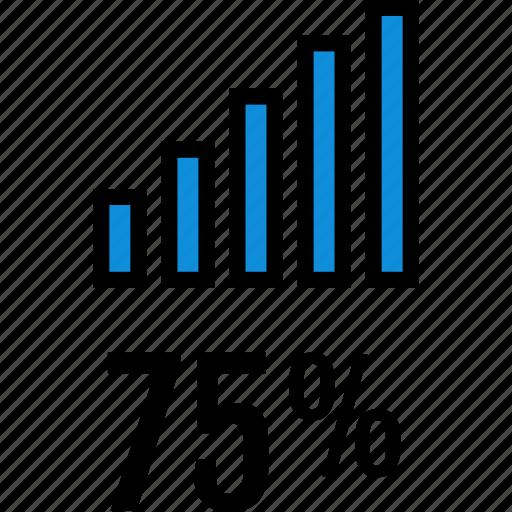 bars, infographic, seo, seventy icon