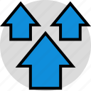 arrows, data, up icon