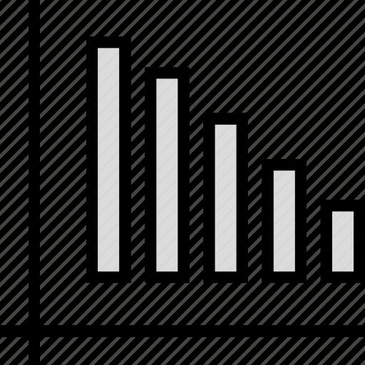 bars, data, down, seo icon