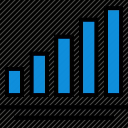 bars, data, infographic, seo icon