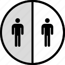 divide, seo, users icon