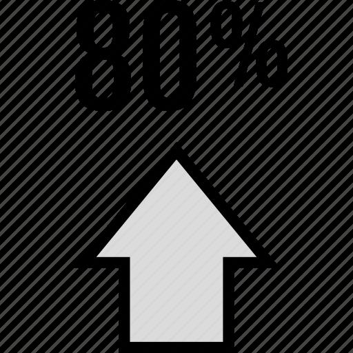 data, eighty, infographic, seo icon