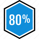 eighty, info, information, percent icon