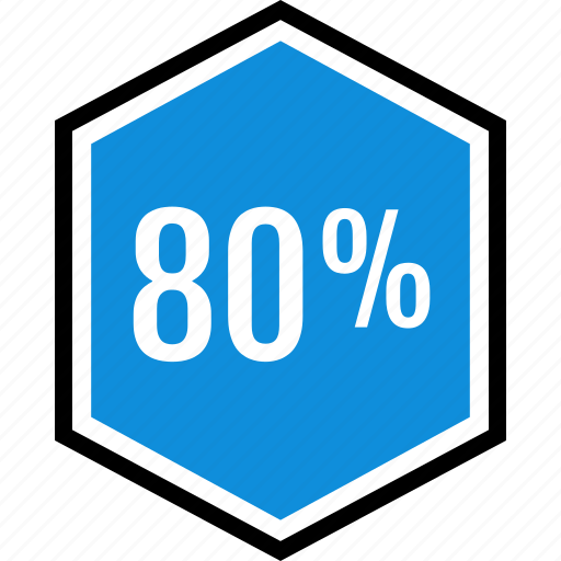 eighty, info, information, percent icon