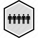 five, information, man, person icon