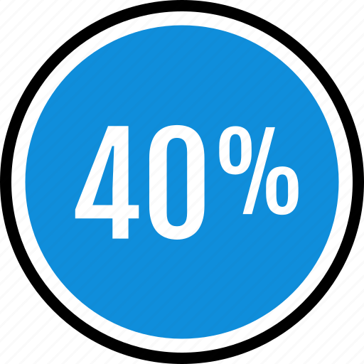 fourty, information, percent icon