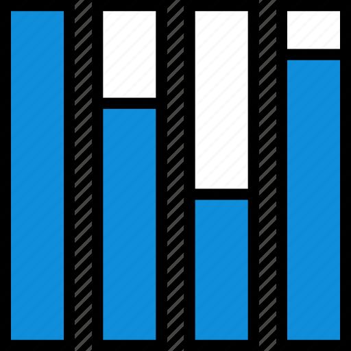 bars, graph, information icon