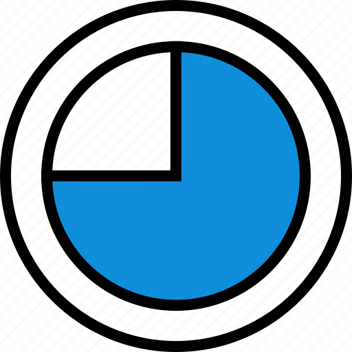 chart, graph, round, seo icon