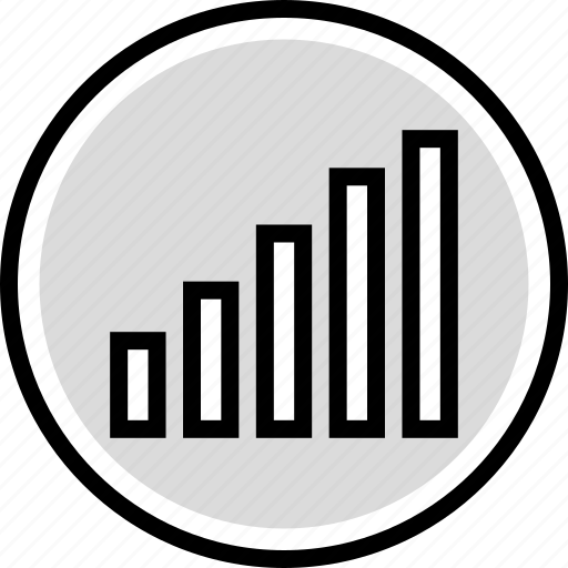 data, graph, up icon