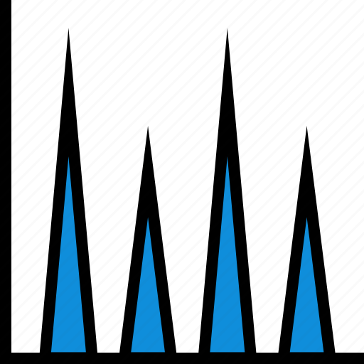 abstract, graph, information, triangles icon