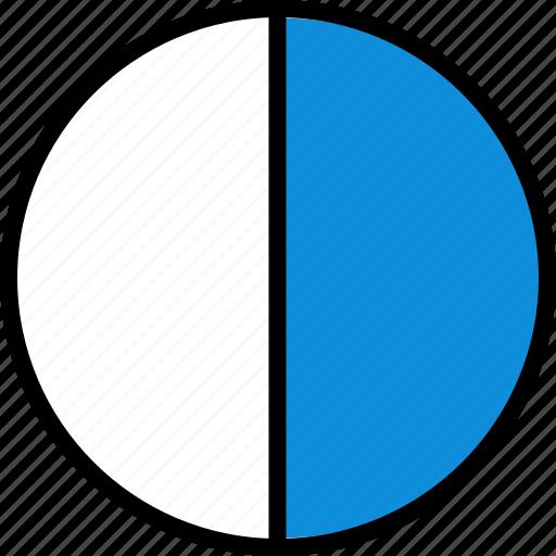 divide, half, infographic, online icon