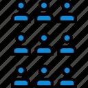 data, information, nine, person icon