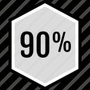 infographic, ninety, percent icon