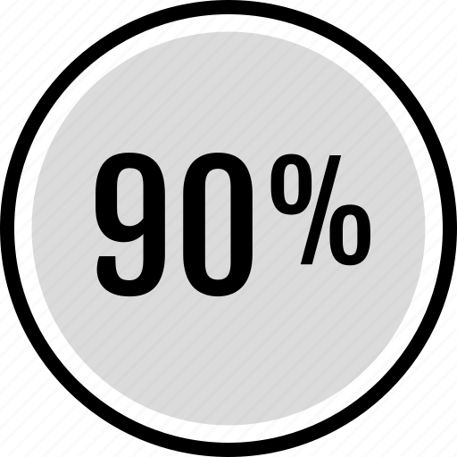 information, ninety, percent icon