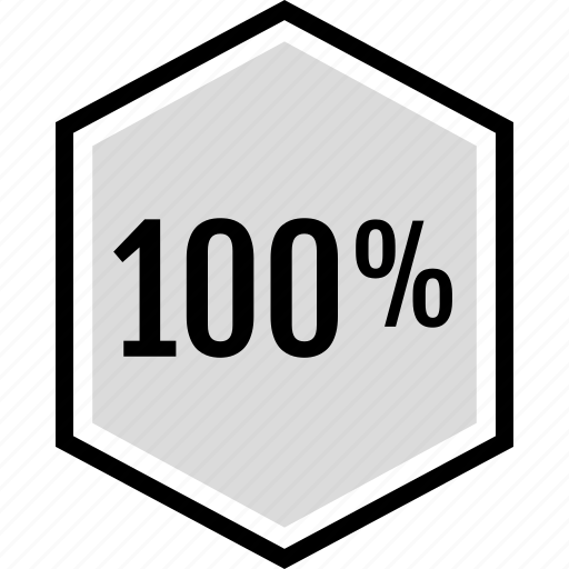 hundred, information, one, percent icon