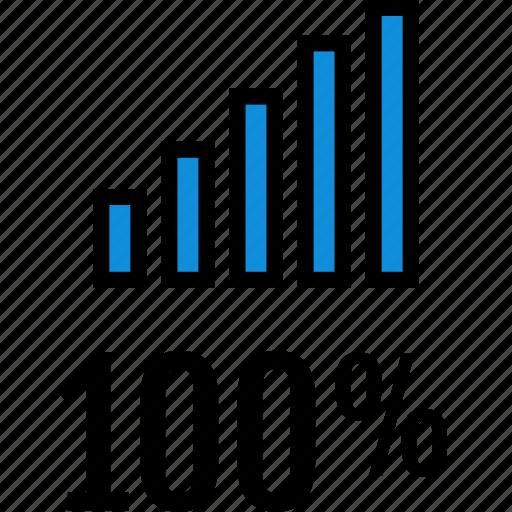 infographic, onehundred, seo icon