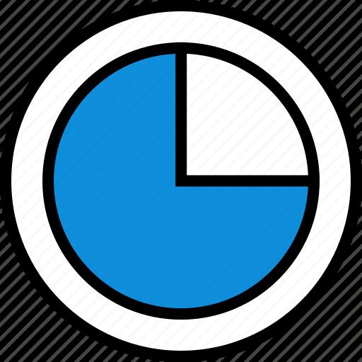 data, infographic, quarter, seo icon