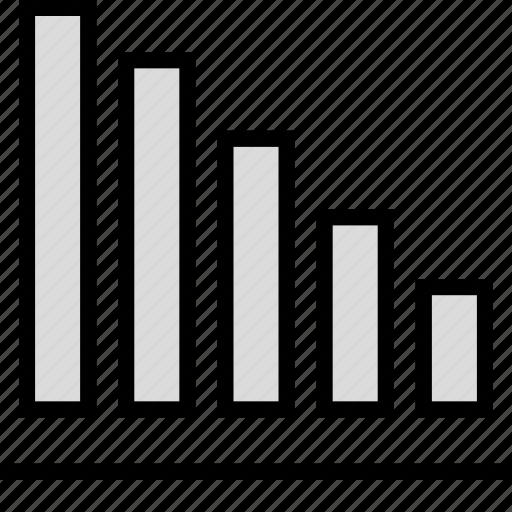 bars, infographic, sales icon