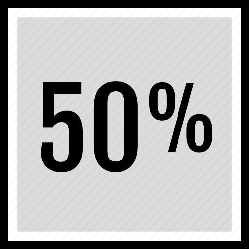 fifty, percent, seo icon