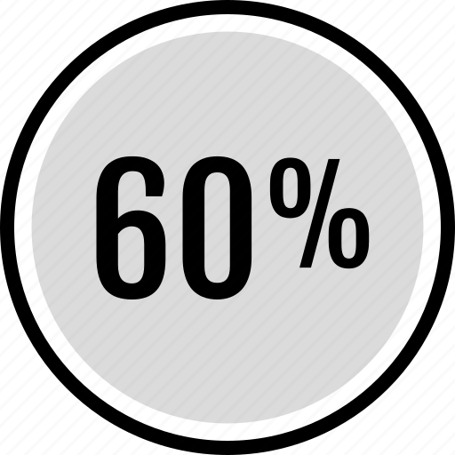infographic, percent, sixty icon