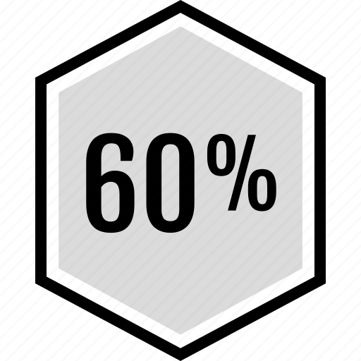 information, percent, sixty icon
