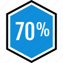 infographic, percent, sventy icon