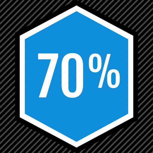 infographic, percent, sventy icon