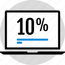 infographic, percent, ten icon