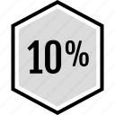 infographic, percent, seo, ten icon