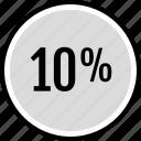 information, percent, ten icon