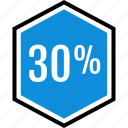 infographic, percent, thirty icon