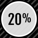 infographic, percent, twenty icon
