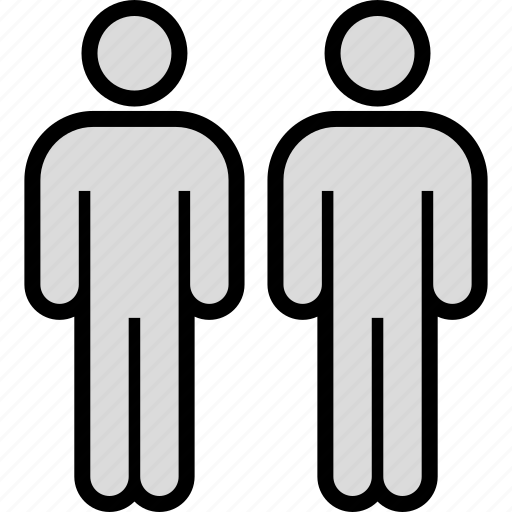 data, infographic, two, users icon